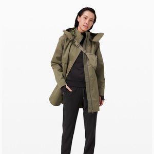 Lululemon rain shaker trench coat